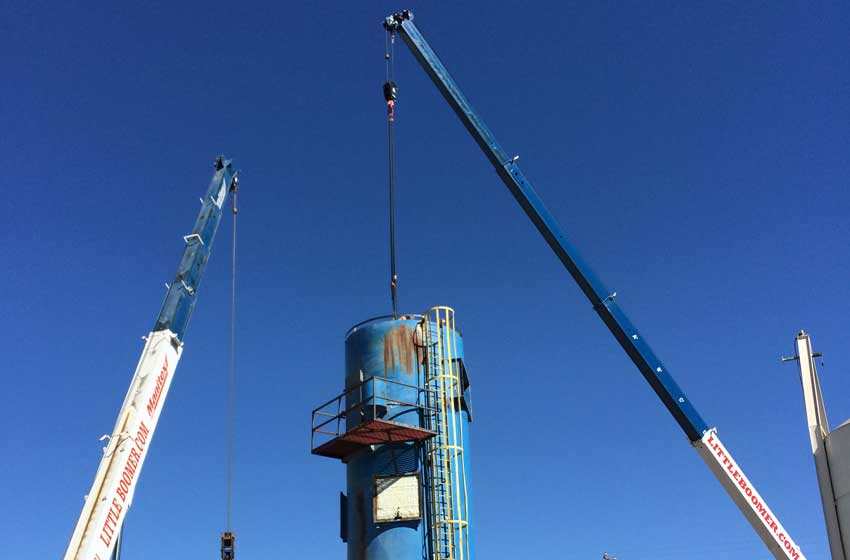 Tandem crane lift